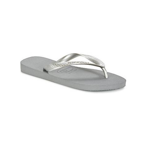 Havaianas TOP METALLIC women's Flip flops / Sandals (Shoes) in Grey