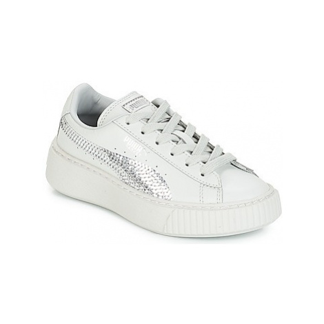 Puma G PS B PLATFORM BLING.GRAY girls's Children's Shoes (Trainers) in Grey