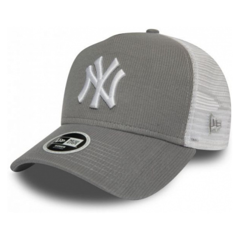 New Era 9FORTY W AF TRUCKER MLB RIBBED JERSEY NEW YORK YANKEES white - Women's club trucker hat