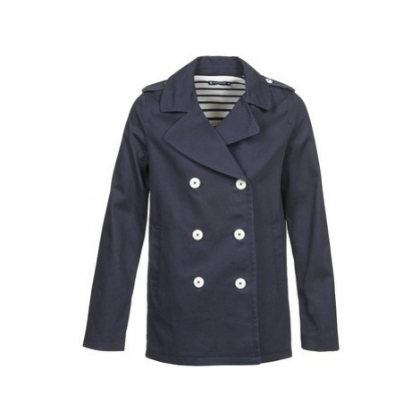 Petit Bateau DUDI women's Trench Coat in Blue
