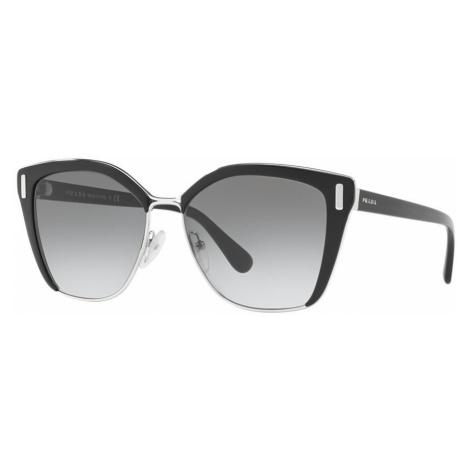 Prada Woman PR 56TS - Frame color: Black, Lens color: Grey-Black, Size 57-16/140