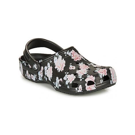 Crocs CLASSIC PRINTED CLOG women's Clogs (Shoes) in Black