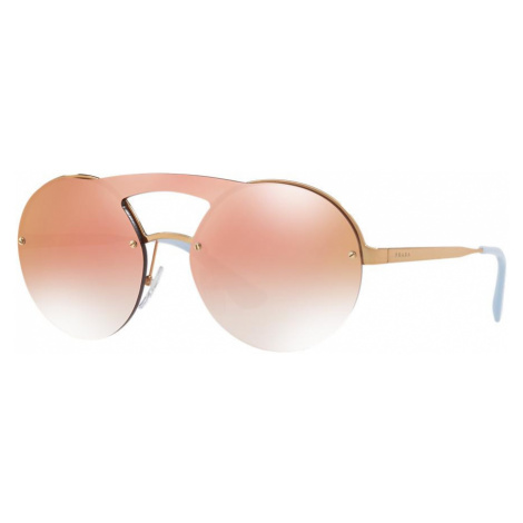 Prada Woman PR 65TS - Frame color: Gold, Lens color: Pink, Size 01-36/140
