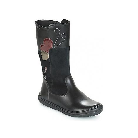 Geox J HADRIEL girls's Children's High Boots in Black