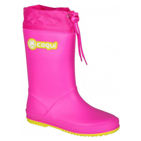 Coqui RAINY COLLAR pink - Children's wellies