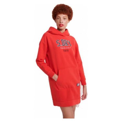 Superdry TRACK&FIELD STATEMENT BACK SWEAT DRESS red - Women's dress