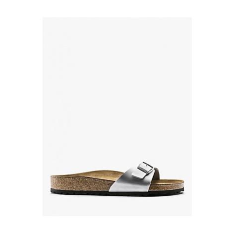 Birkenstock Madrid Open Toe Narrow Fit Buckle Sandals, Silver