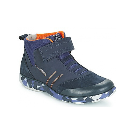 Geox J NEBULA BOY boys's Children's Shoes (High-top Trainers) in Blue