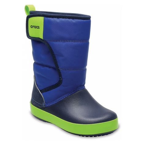 shoes Crocs Lodge Point Snow Boot - Blue Jean/Navy