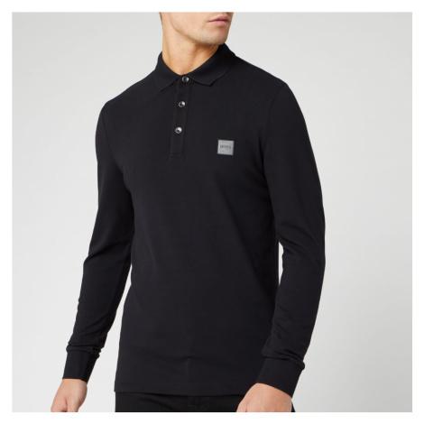 BOSS Men's Passerby Long Sleeve Polo Shirt - Black - Black Hugo Boss