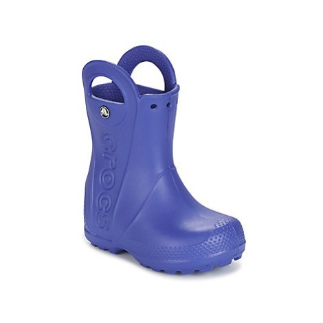 Crocs HANDLE IT RAIN BOOT girls's Children's Wellington Boots in Blue