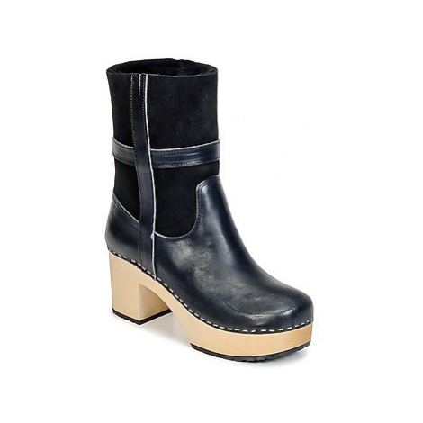 Swedish hasbeens HIPPIE LOW women's Low Ankle Boots in Black