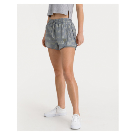 Guess All Over Logo Shorts Grey