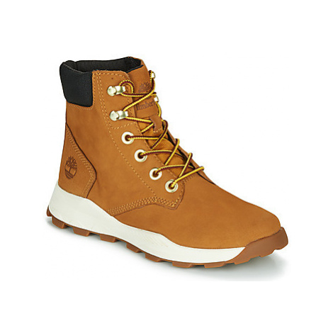 Timberland BROOKLYN SNEAKER BOOT girls's Children's Shoes (High-top Trainers) in Brown
