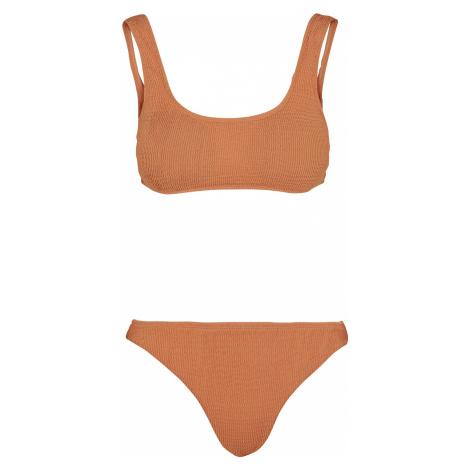 Urban Classics - Ladies Tanktop Crinkle Bikini - Bikini - apricot