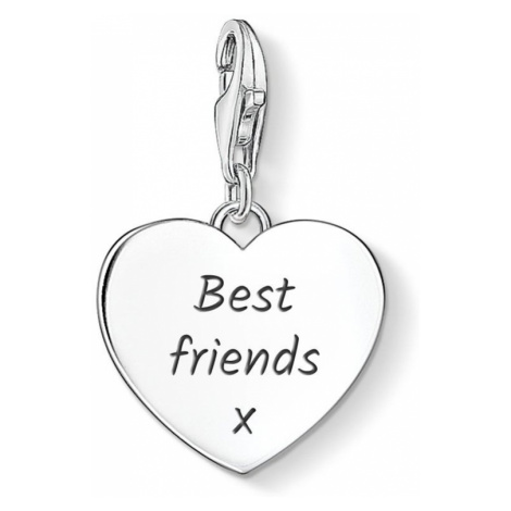 THOMAS SABO Heart Charm Engraved with 'Best friends x'