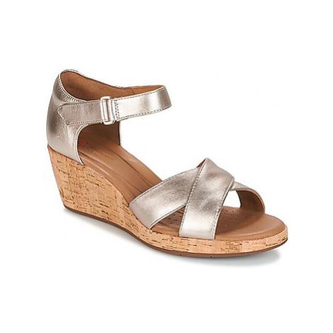 Clarks UN PLAZA CROSS women's Sandals in Gold