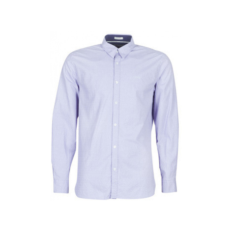 Guess COLLINS men's Long sleeved Shirt in Blue