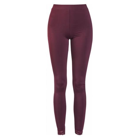 Black Premium by EMP Burgundy Leggings with Lace Seam Leggings burgundy