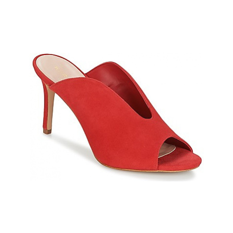 KG by Kurt Geiger DIPPED-FRONT-SANDAL-RED women's Mules / Casual Shoes in Red KG Kurt Geiger
