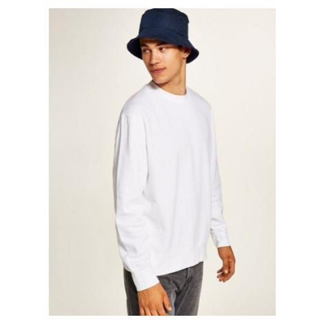 Mens Classic White Sweatshirt, White Topman