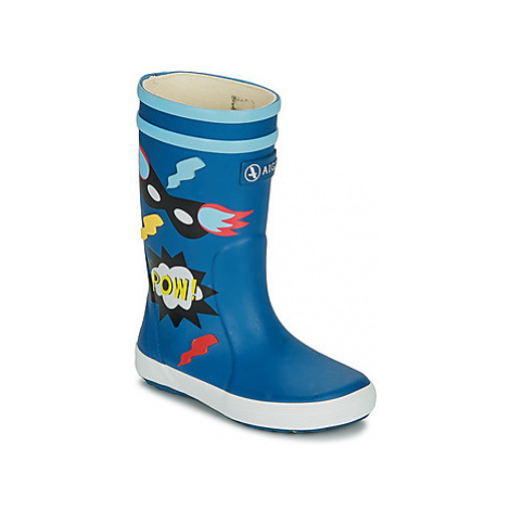 Aigle LOLLY POP FUN girls's Children's Wellington Boots in Blue
