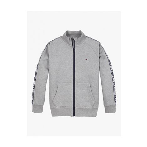Tommy Hilfiger Boys' Organic Cotton Blend Logo Tape Zip Through Sweatshirt