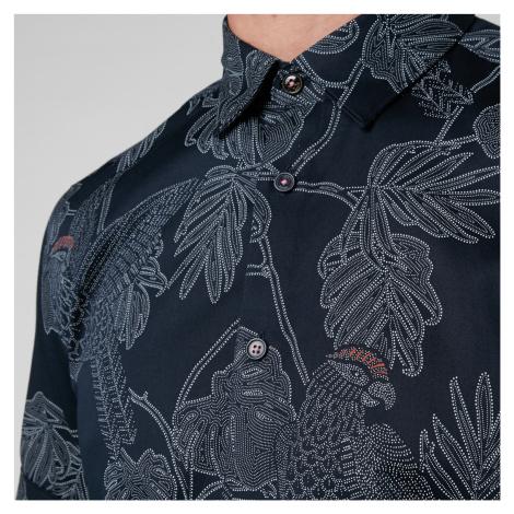 Ted Baker Men's Downdog Print Shirt - Navy - L/4