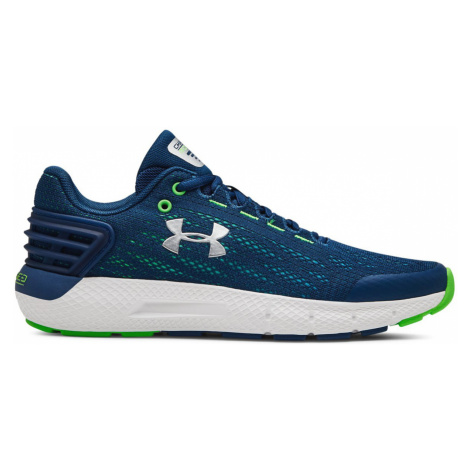 Under Armour Grade School Charged Rogue Kids sneakers Blue Green