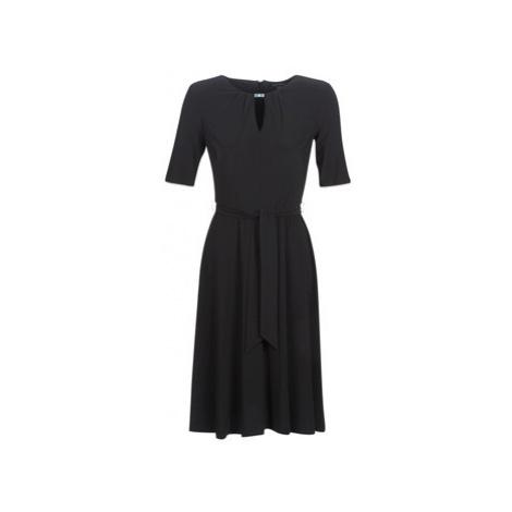 Lauren Ralph Lauren 3/4 SLEEVE JERSEY DAY DRESS women's Dress in Black