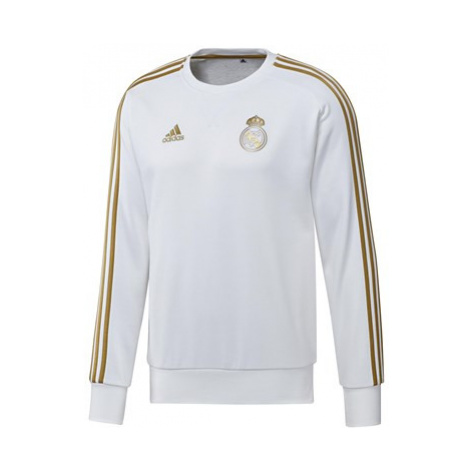 Real Madrid Training Sweat Top - White Adidas