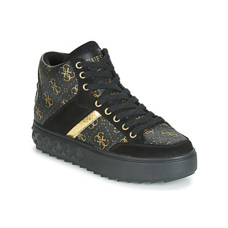 Guess FIXIN women's Shoes (High-top Trainers) in Black