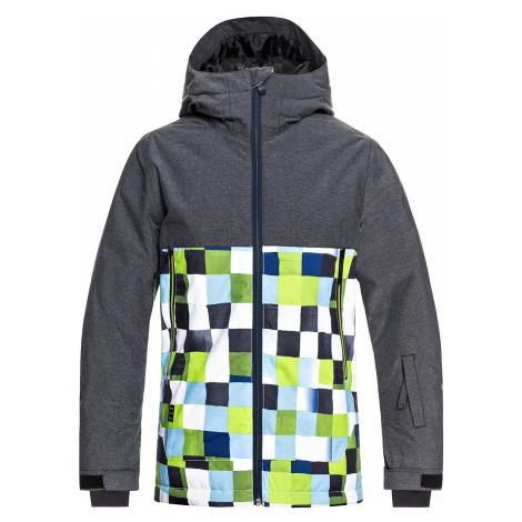 jacket Quiksilver Sierra - GJZ2/Lime Green/Check Atomic - boy´s