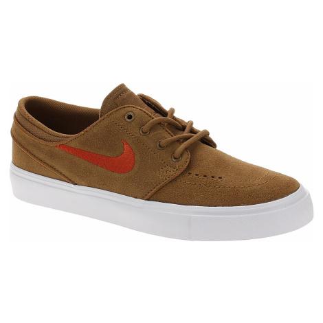 shoes Nike SB Stefan Janoski Suede BG - Light British Tan/Mystic Red/White - unisex junior