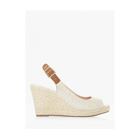 Dune Kicks 2 Fabric Espadrille Wedge Heel Sandals, Natural
