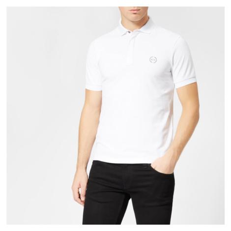 Armani Exchange Men's Tonal Logo Polo Shirt - White