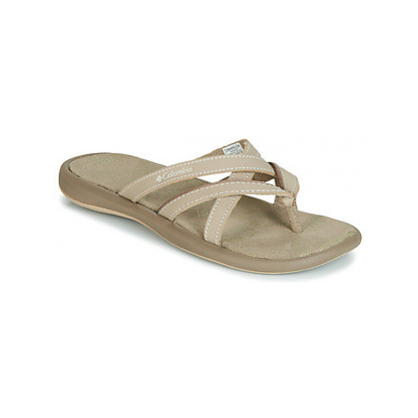 Columbia KAMBI II women's Flip flops / Sandals (Shoes) in Beige
