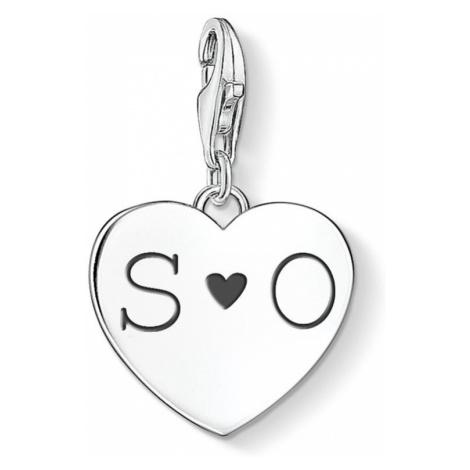 THOMAS SABO Silver Initials Heart Charm