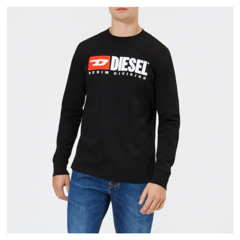 Diesel Men's Division Long Sleeve Top - Black - Black