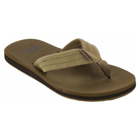 flip flops Quiksilver Carver Suede - TKD0/Tan/Solid - men´s