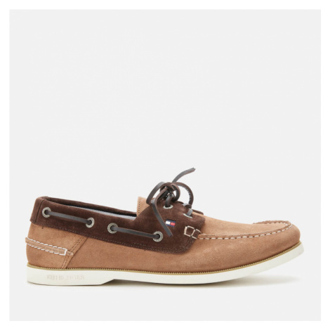 Tommy Hilfiger Men's Classic Suede Boat Shoes - Classic Khaki/Cocoa - EU 45/UK
