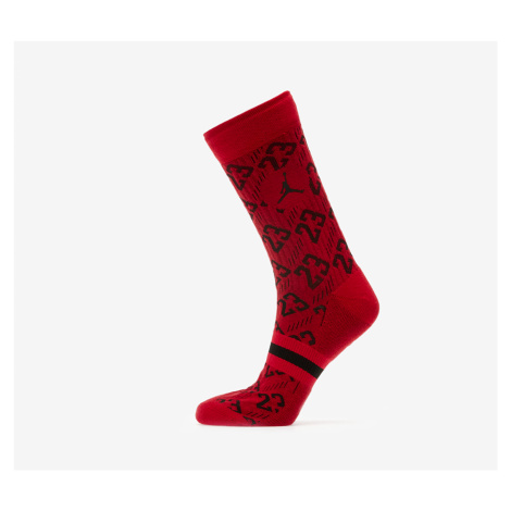 Jordan Legacy 2 Pair AOP Crew Socks Gym Red/ Black