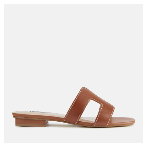 Dune Women's Loupe Leather Mule Sandals - Tan - UK - Tan