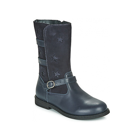 Citrouille et Compagnie HANDRE girls's Children's High Boots in Blue