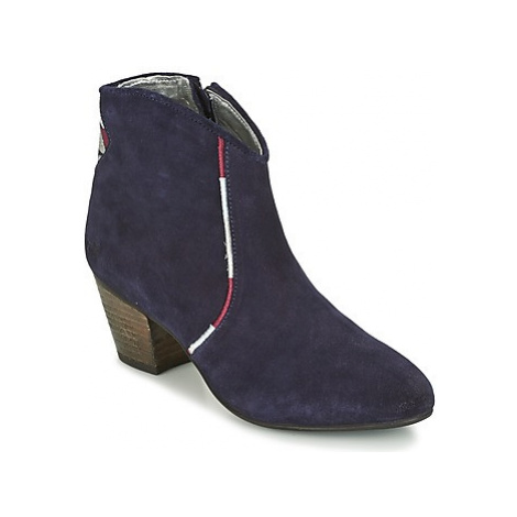 Kaporal VUBER women's Low Ankle Boots in Blue