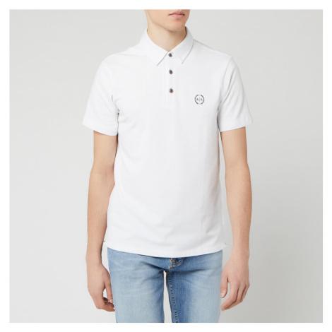 Armani Exchange Men's Basic Polo Shirt - White - White