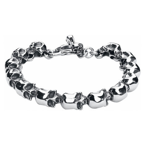 EtNox hard and heavy - Skull - Bracelet - silver-coloured