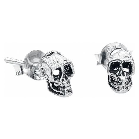 EtNox Skull Earring Set silver coloured
