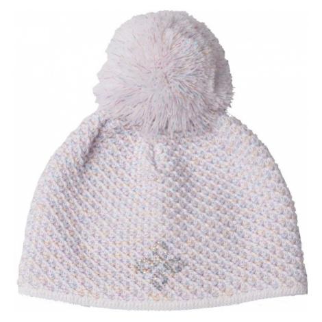 R-JET GIRLS RAINBOW white - Children's knitted hat