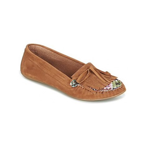 Ippon Vintage MOC-WAX-TAUPE women's Loafers / Casual Shoes in Brown